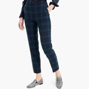 JCrew tartan cropped pants wool blended